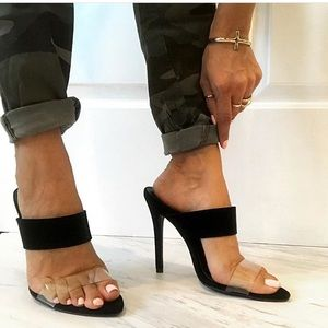 Shoes - Black/clear heels